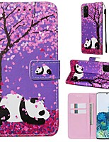 cheap -Case For Samsung Galaxy A90/Galaxy A80/Galaxy A50s Wallet / Card Holder / with Stand Full Body Cases Panda / Flower PU Leather For Galaxy A51/A71/S20/S20 Plus/S20 Ultra/A10S/A20S/A30S