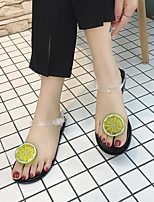 cheap -Women's Sandals Katy Perry Sandals Flat Heel Round Toe PU Summer Clear / White / Black