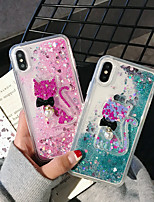 cheap -Case For Apple iPhone 11 / iPhone 11 Pro / iPhone 11 Pro Max Shockproof / Flowing Liquid / Pattern Back Cover Cat / Animal / Cartoon PC