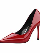 cheap -Women's Heels Stiletto Heel Pointed Toe Faux Leather Casual / Minimalism Spring / Summer Black / Wine / Nude