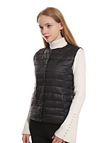 cheap -Women's Hiking Vest / Gilet Winter Outdoor Windproof Warm Comfortable Top Single Slider Camping / Hiking / Caving Traveling Winter Sports Black / Pink / Khaki