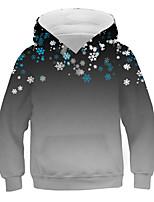 cheap -Kids Boys' Basic Street chic Color Block 3D Print Long Sleeve Hoodie & Sweatshirt Gray