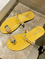 cheap -Women's Sandals Katy Perry Sandals Flat Heel Round Toe PU Summer Yellow / Green / Black