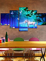 cheap -AMJ hot sale unicorn pentagram living room sofa background wall decoration canvas painting frameless painting core