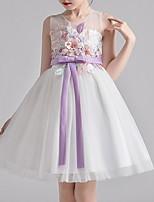 cheap -Kids Girls' Floral Color Block Dress White