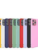 cheap -Case For Apple iPhone7/8/7P/8P/X/XS/XR/Xs Max/ 11 /  11 Pro /  11 Pro Max Shockproof Back Cover Solid Colored Silica Gel