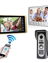 cheap -Wired & Wireless 7 inch Hands-free 1024*600 Pixel One to One video doorphone