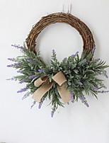 cheap -1 Piece Artificial Lavender Flowers Wreath Artificial Flower Garland European Wedding Imitation Flower Decor