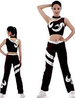cheap -Cheerleader Costume Gymnastics Suits Women's Girls' Kids Pants / Trousers Spandex High Elasticity Handmade Sleeveless Competition Dance Rhythmic Gymnastics Artistic Gymnastics Purple