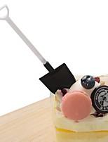 Недорогие -ложка для мороженого 100 шт. / лот мини-лопата пластиковая ложка торт строительство пляж сад партии одноразовые стеки эскимо инструменты
