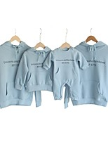 cheap -Mommy and Me Letter Hoodie & Sweatshirt Blue