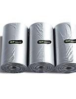 cheap -Solid Drawstring Kitchen Bag Garbage Bag 3 Pack Silver 110 sheets 10Gallon