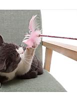 cheap -Teaser Cat Pet Toy Bell Plush Gift