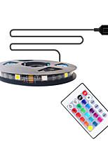 Недорогие -2м ТВ фоновая полоса света гибкие светодиодные полосы / RGB полосы света 60 светодиодов smd5050 10мм 1 пульт дистанционного управления 24 ключа 1 комплект многоцветный водонепроницаемый / USB /