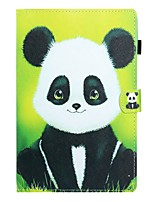 cheap -Case For Samsung Galaxy Tab A2 10.5(2018) / Samsung Tab A 10.1(2019)T510 / Samsung Tab A 8.0(2019)T290/295 Card Holder / with Stand / Flip Full Body Cases Panda PU Leather