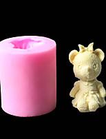cheap -DIY Bear Mate 3D Fondant Silicone Cake Mould