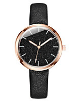 cheap -Women's Quartz Watches Fashion Black Blue Pink PU Leather Chinese Quartz Blushing Pink Blue Black Casual Watch 1 pc Analog One Year Battery Life