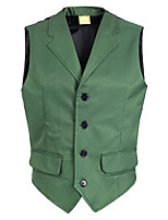 cheap -Joker Men's Movie Cosplay Halloween Green Vest Halloween Terylene / Sleeveless