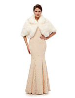 cheap -Half Sleeve Shawls Faux Fur Wedding Women's Wrap With Solid