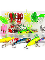 cheap -1 pcs Flies Lure kits Hard Bait Soft Bait Buzzbait & Spinnerbait Spoons Flies Minnow Crank Floating Sinking Fast Sinking Bass Trout Pike Fly Fishing Bait Casting Freshwater Fishing Hard Plastic