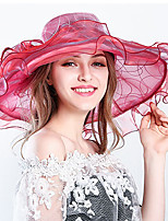 cheap -Vintage Style Fashion Tulle / Organza Hats / Headwear with Flower / Trim / Ruffle 1 Piece Wedding / Outdoor Headpiece