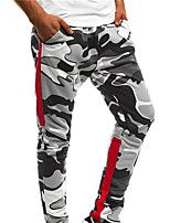 cheap -Men's Jogger Pants Harem Camo / Camouflage White Red Army Green Cotton Running Fitness Gym Workout Bottoms Sport Activewear Breathable Soft Stretchy