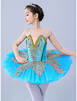 cheap -Kids' Dancewear / Gymnastics / Ballet Leotards / Tutus & Skirts Girls' Performance / Theme Party Polyester / Tulle Scattered Bead Floral Motif Style / Embroidery / Pearls Sleeveless Leotard / Onesie