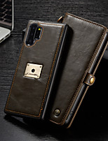 cheap -Case For Samsung Galaxy Galaxy Note 10 / Galaxy Note 10 Plus Wallet / Card Holder / Shockproof Full Body Cases Solid Colored PU Leather / TPU