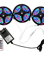 cheap -5m Flexible LED Light Strips  RGB Strip Lights  Remote Controls 270 LEDs SMD3528 8mm 1 24Keys Remote Controller  1 x 2A Power Adapter 1 set RGB  Change Christmas  New Year's Indoor  Decorative