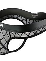 cheap -Men's Mesh G-string Underwear - Normal Low Waist Black M L XL