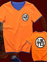 Недорогие -Вдохновлен Жемчуг дракона Son Goku Аниме Косплэй костюмы Японский Косплей футболка Кофты Назначение Муж. Жен.