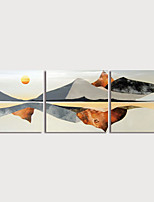 cheap -Print Art Canvas Painting Western Style Landscape set of 3 Modern Art Prints with Strecter Home Decoration