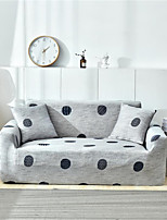 cheap -Grey Polka Dot Print Dustproof All-powerful Slipcovers Stretch Sofa Cover Super Soft Fabric Couch Cover with One Free Pillow Case