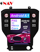 cheap -ZWNAV 11.8 inch Tesla Style Android 8.1 4GB 64GB Car Stereo Car GPS Navigation Car MP5 Player Car Multimedia Player World Maps Carplay SWC Bluetooth Voice Control WiFi HDMI for Ford Mustang 2015