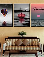 cheap -3 Pieces Printing Decorative Painting  Oil Painting  Home Decorative Wall Art Picture Paint on Canvas Prints 40x60cmx3 Landscape Nature