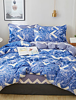cheap -Classic bedding set blue flower bed linens 4pcs/set duvet cover set Pastoral bed sheet duvet cover