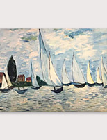 cheap -IARTS®Hand Painted Thousand sail competition Oil Painting   with Stretched Frame For Home Decoration