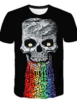 cheap -Kids Boys' Basic Street chic 3D Rainbow Animal Print Short Sleeve Tee Rainbow