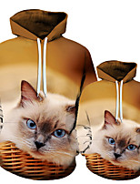 cheap -3D Cat Unisex Animal Printed Men's Hoodie Male Streetwear Fashion Casual Sweatshirt Coat