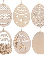 cheap -Pendants Wood 10pcs Easter