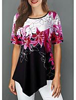 cheap -Women's Daily T-shirt - Geometric Purple