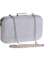 cheap -Women's Chain Polyester Evening Bag Solid Color Black / Silver / Light Gold