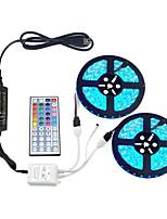 cheap -2x5M Flexible LED Light Strips / Light Sets / RGB Strip Lights 600 LEDs SMD5050 10mm 1 44Keys Remote Controller / 1 x 10A power adapter 1 set Multi Color Cuttable / Party / Decorative 85-265 V