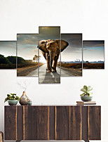 cheap -AMJ Hot Sale Thai Elephant Joint Painting Living Room Sofa Background Wall Decorative Canvas Picture Frameless Core