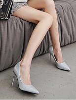Недорогие -Жен. Обувь на каблуках На шпильке Заостренный носок Полиуретан Весна лето Черный / Серебряный