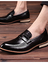 cheap -Men's PU Spring & Summer Vintage Loafers & Slip-Ons Walking Shoes Wear Proof Booties / Ankle Boots Black / Yellow / Light Red