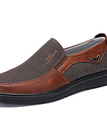 cheap -Men's Cowhide Spring & Summer Casual Loafers & Slip-Ons Breathable Coffee