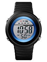 cheap -SKMEI Men Sport Watch Quartz Modern Style Sporty Silicone Black 50 m Water Resistant / Waterproof Alarm Chronograph Digital Outdoor Fashion - White+Blue Black Black / White One Year Battery Life