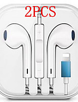 cheap -2PCS Wired Hybrid Stereo In-Ear Earphone for iPhone 7 8 Plus X XR XS max Earphones with Microphone and Wire Sound Control