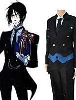 cheap -Inspired by Black Butler Sebastian Michaelis Anime Cosplay Costumes Japanese Cosplay Suits Coat Vest Shirt For Men's Women's / Pants / Gloves